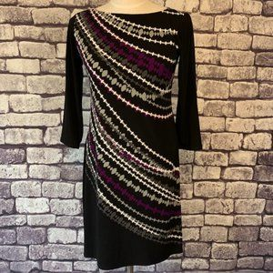 Signature Black, White, Gray & Purple Dress